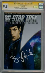 Star Trek Countdown To Darkness #3 CGC 9.8 Signature Series Signed Zachary Quinto Spock Movie Actor IDW comic book